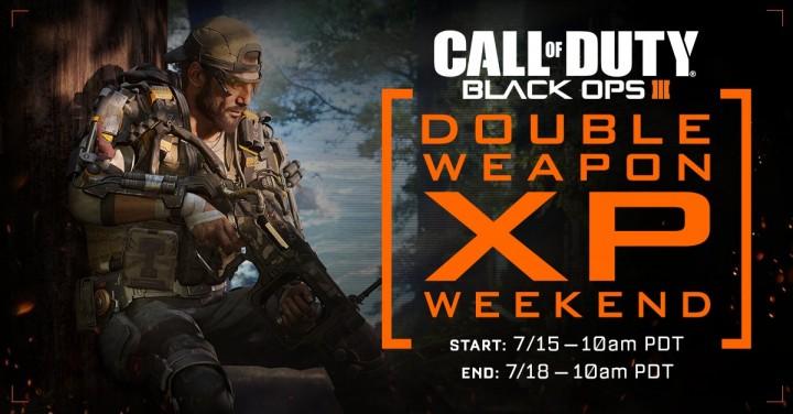 CoD:BO3:武器ダブルXP(経験値2倍)、7月16日深夜2時より開催