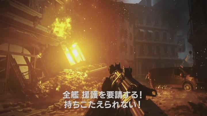 """CoD:IW:たっぷり13分、シングルプレイ""""Black Sky""""のゲームプレイ映像(日本語字幕)"""