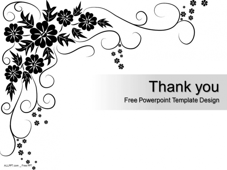 Black Floral Pattern Powerpoint Template Design + Daily Update +