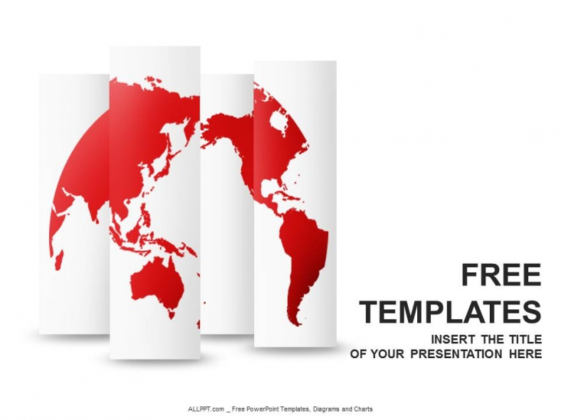 Red World Map PowerPoint Templates Design + Download Free + Daily