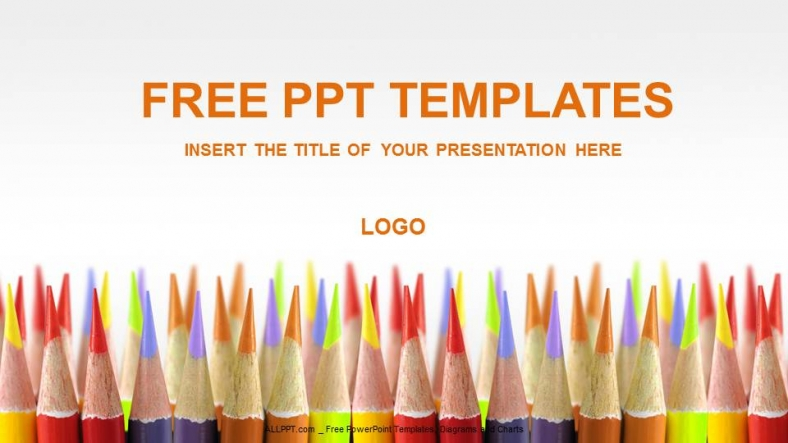 Colored Pencils Education Powerpoint Templates + Download Free +