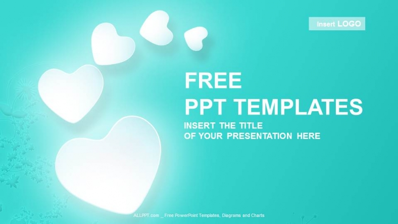 Love Hearts Abstract PowerPoint Templates + Download Free +