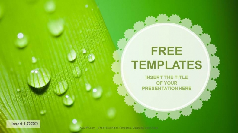 droplets Nature PPT Templates + Download Free + - download free powerpoint templates