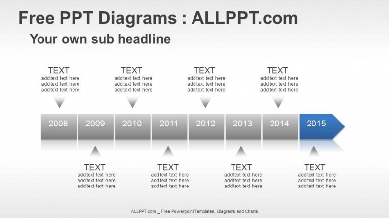 8 Years Timeline PPT Diagrams + Download Free +