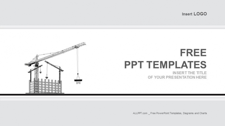 Cranes On Building-Industry PowerPoint Templates