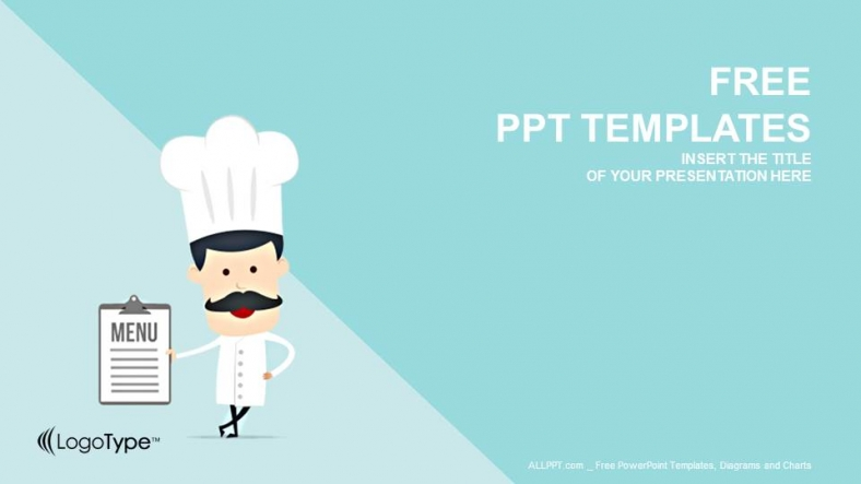 Cartoon Chef-Food PowerPoint Templates