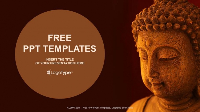 Buddha Mask PowerPoint Templates - buddhism powerpoint