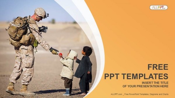 Free Military PowerPoint Templates Design - navy powerpoint templates
