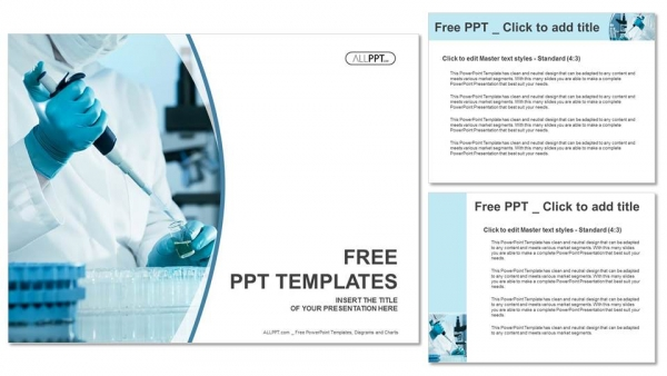 Scientific researcher in medical PowerPoint Templates - scientific templates