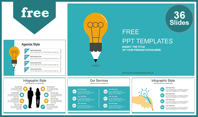 Creative Idea Bulb PowerPoint Template - template