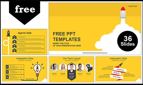 Free Best Business PowerPoint Templates with Professional +55Slides
