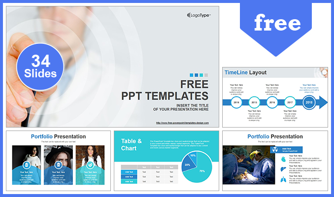 Scientific Researcher Medical PowerPoint Template - scientific templates