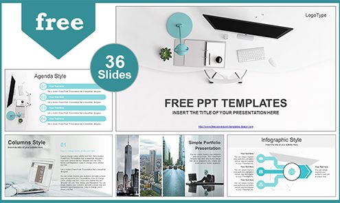 Free Computers Powerpoint template design - powerpoint brochure templates free