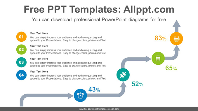Arrow stairs PowerPoint Diagram Template
