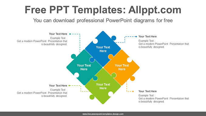 Puzzle matrix PowerPoint Diagram Template