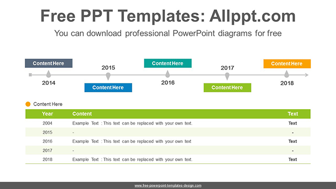 Simple table timeline PowerPoint Diagram Template - powerpoint timeline