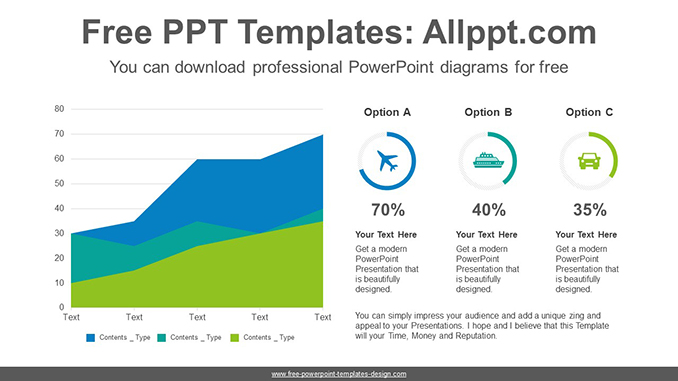 Area-donut chart PowerPoint Diagram Template - donut template