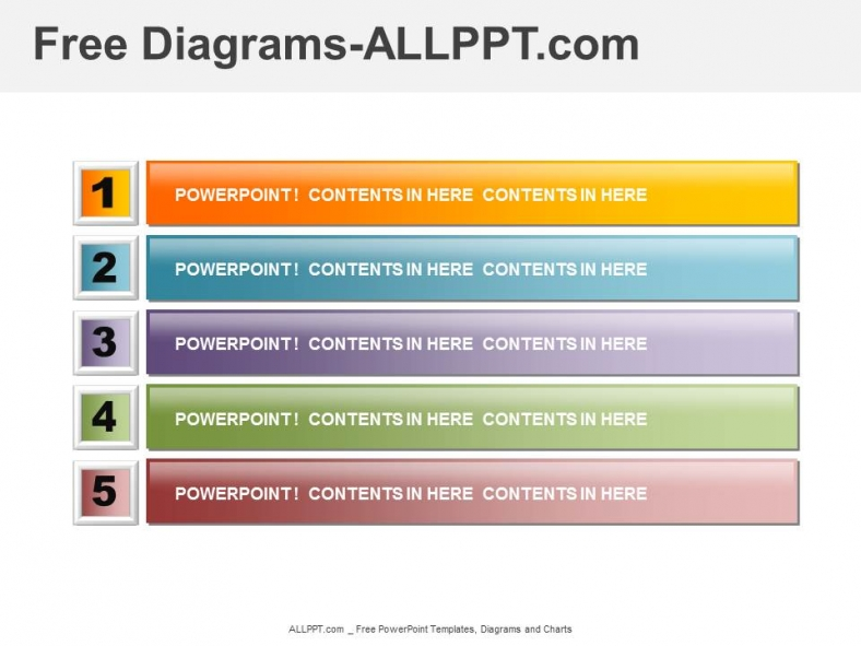 Listing and Agenda Diagram PPT  Download Free