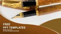 Fountain Pens-Business-PowerPoint Templates