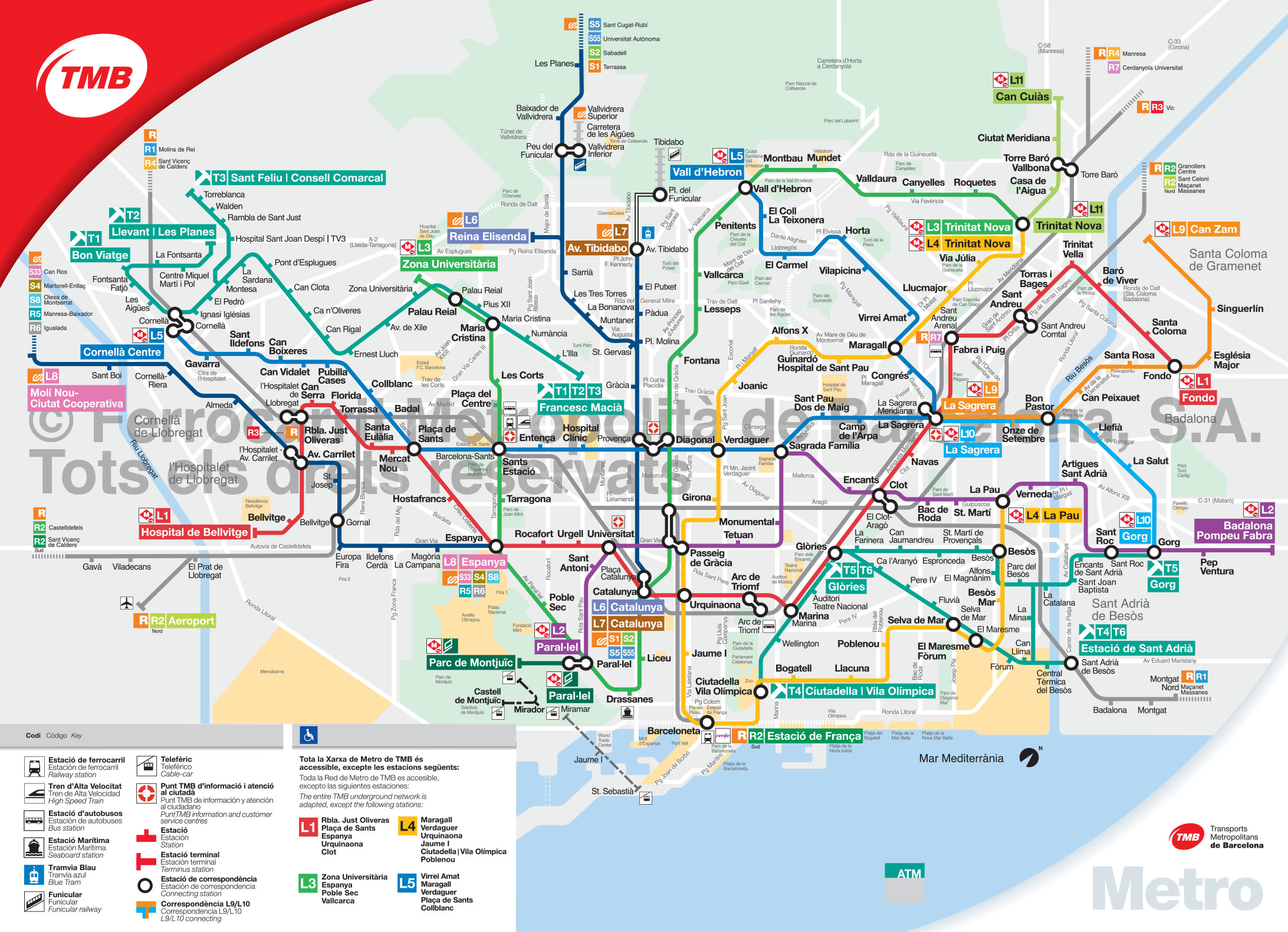 Bus Bordeaux Barcelone Plan Métro Barcelone
