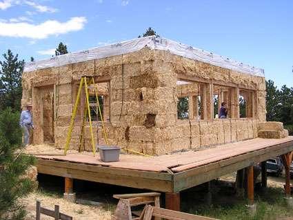 Maison en paille  construire sur ossature en bois Dossier - Maison En Bois Autoconstruction