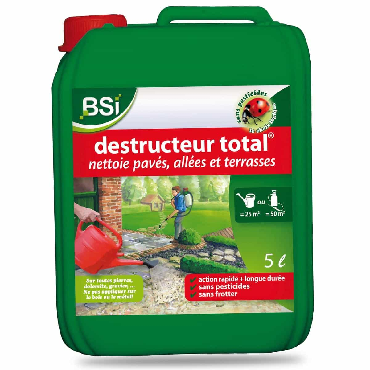 Desherbant Naturel Tres Efficace Destructeur Total 5l Nettoyage Dalles Et Terrasses