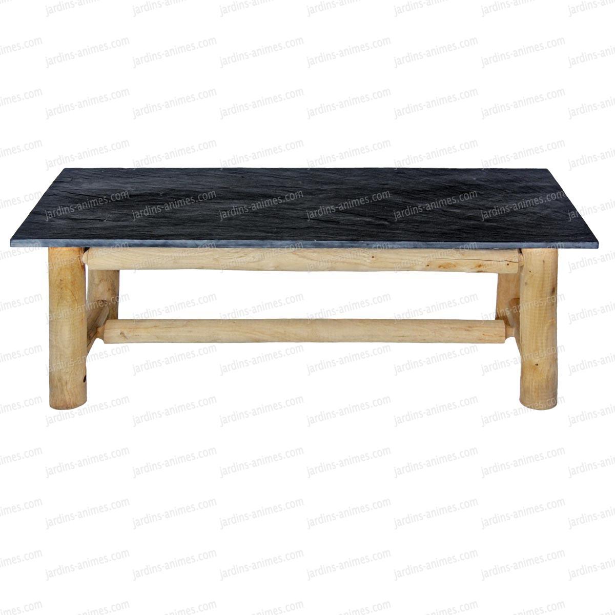Table Bois Ardoise Design   Table Bois Blanc Design Chene Made ...