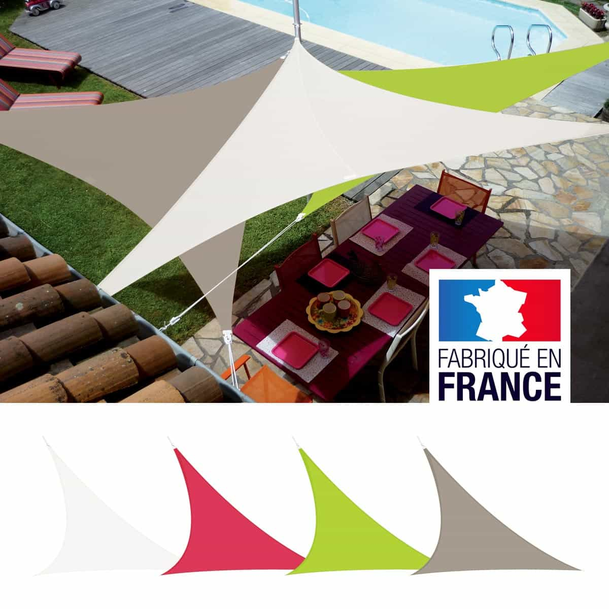 Faire Ombrage Toile D Ombrage Voile Triangulaire Easy Sail 5m X 5m X 5m