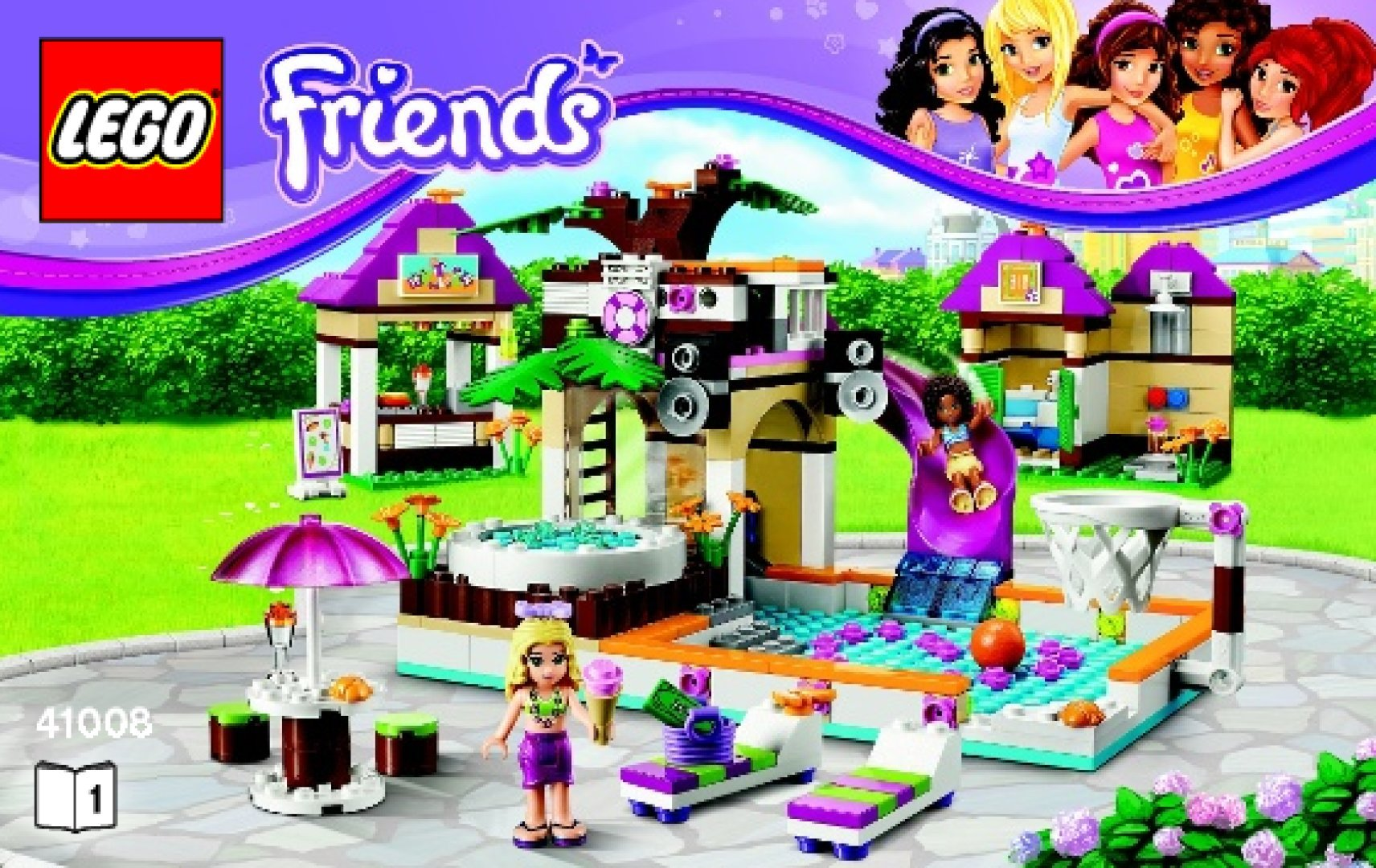 Lego Friends La Piscina Notice Instructions De Montage Lego Friends 41008
