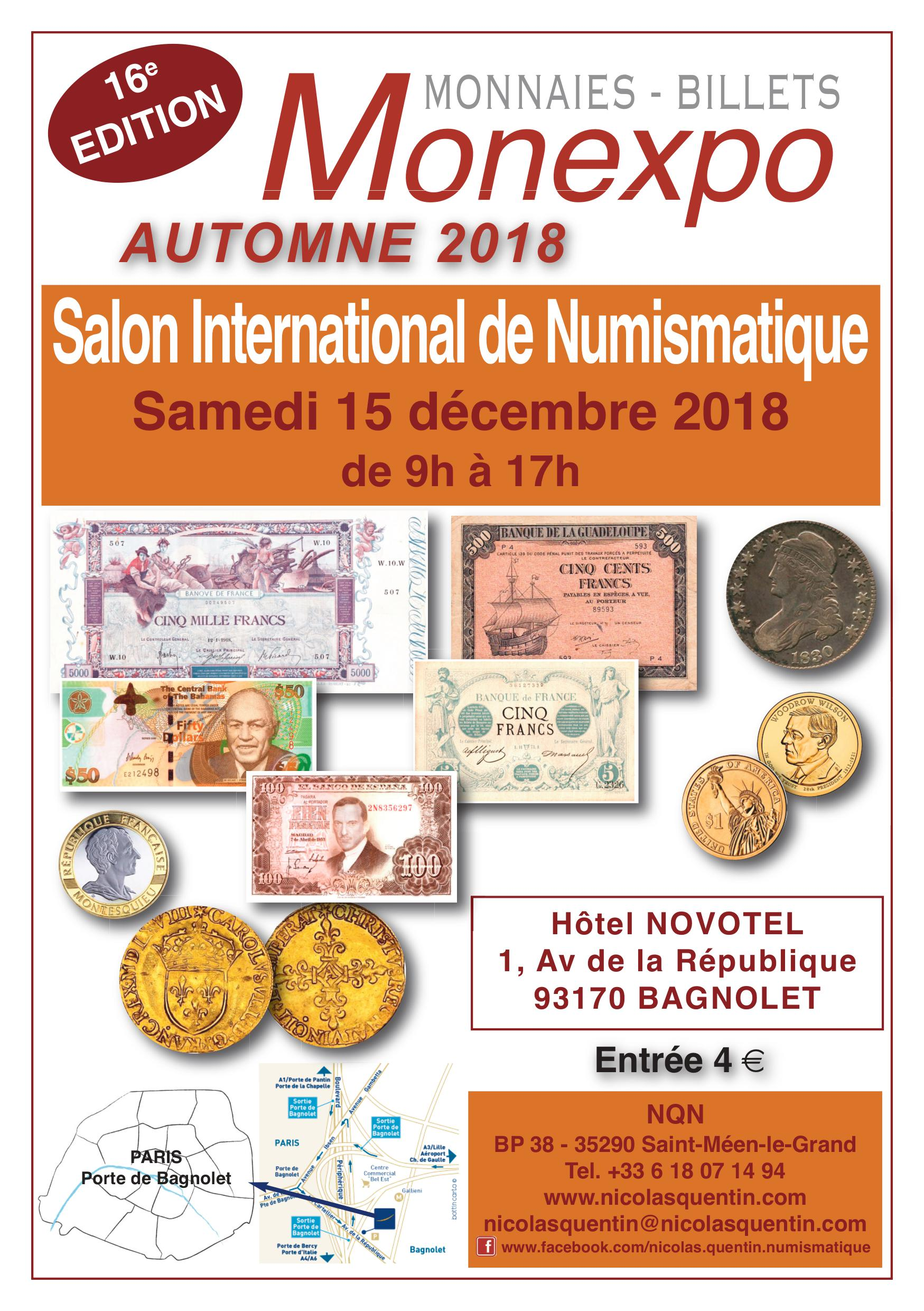 Salon Numismatique 16ème Monexpo Bagnolet Numista