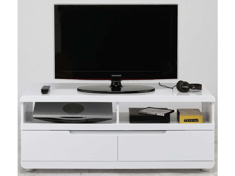 Meuble Tv Alinea Blanc Laque Meuble Tv Bel Air Coloris Blanc - Conforama - Pickture