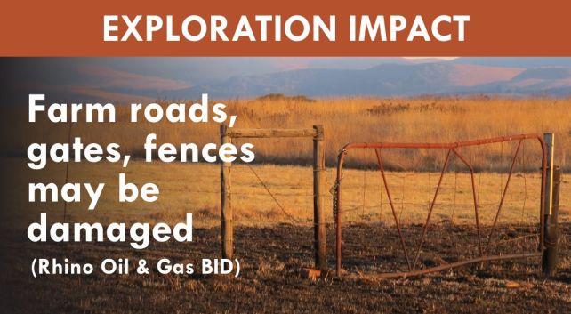 BID Impact - roads, gates and fences may be damaged