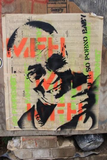 street art - Londres, UK - stencil - Mr Fahrenheit - so porno babe