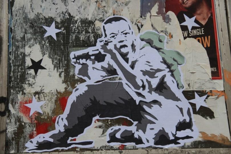 street art - Londres, UK paste up
