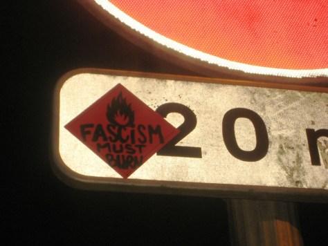 dec 2012_sticker_Fascism must burn_besancon