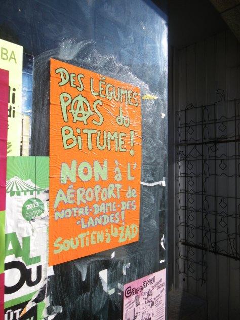 des legumes pas du bitume - ZAD - Affiche, Besancon - Sept2013