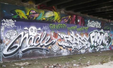 nacle, base, fisko - graffiti - besancon, arenes, dec 2013