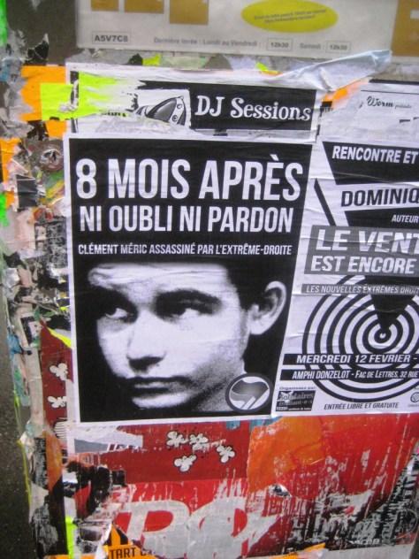 besancon-fevrier 2014 affiche_clement meric - antifa
