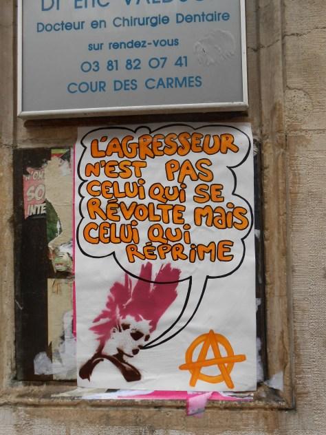 affiche - besancon - revolte, repression - juin 2014