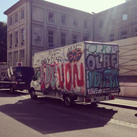 camion strasbourg graff