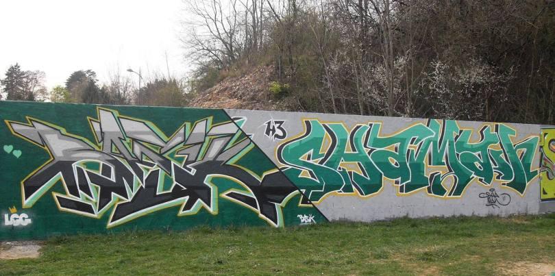 Basil lcg Shaman h3 - graffiti - montferrand le chateau