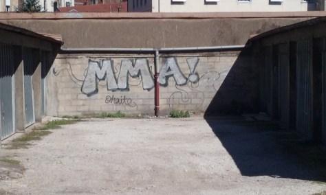 MMA graffiti besancon aout 2015