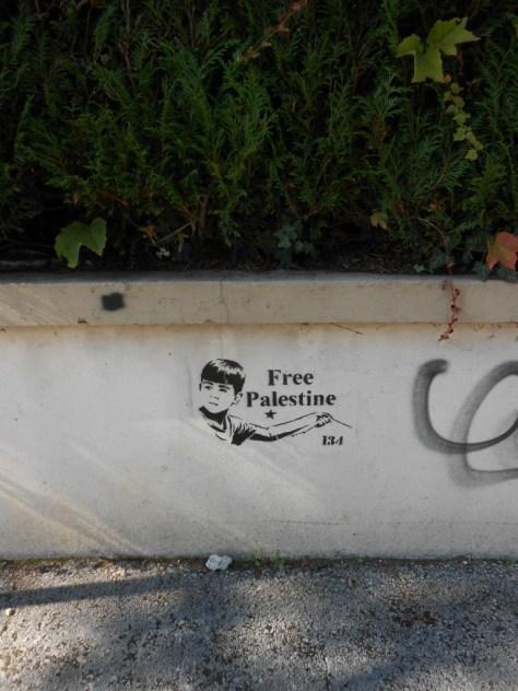 free Palestine - pochoir - besanocn - 2015 (2)