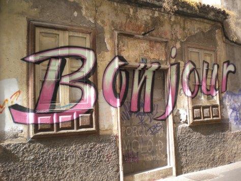 bonjour graffiti tenerife 2016