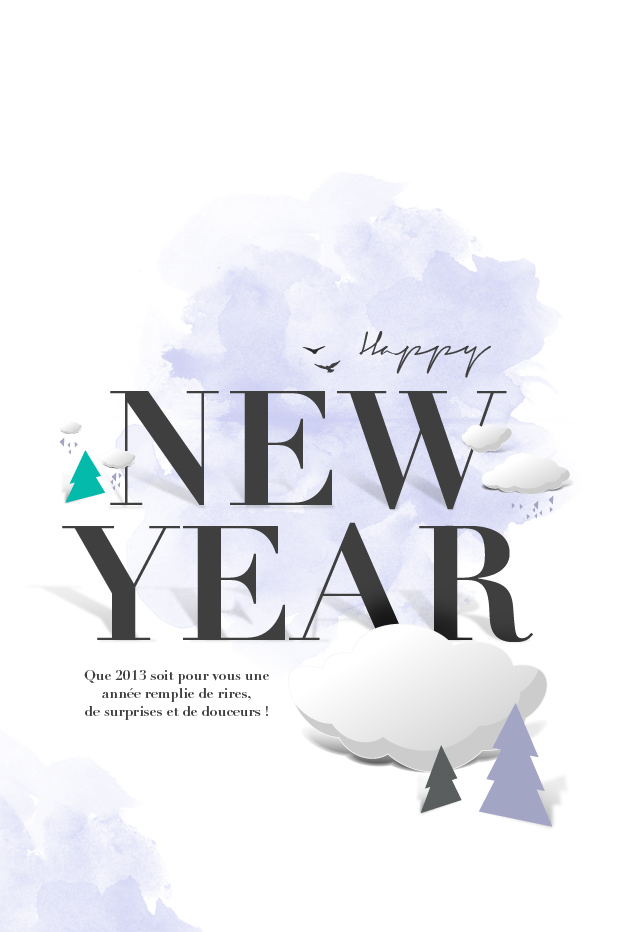 HAPPY NEW YEARTWENTY 12 by Atif Ahmed Akkhor, via Behance - birthday card layout