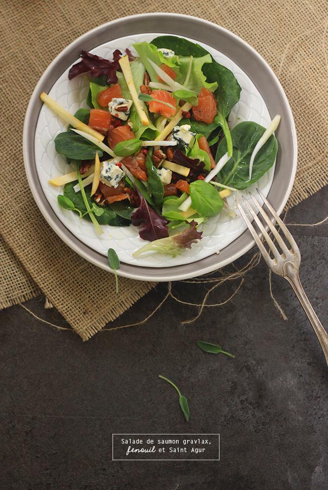 salade de saumon gravalx fenouil et st agur. Black Bedroom Furniture Sets. Home Design Ideas