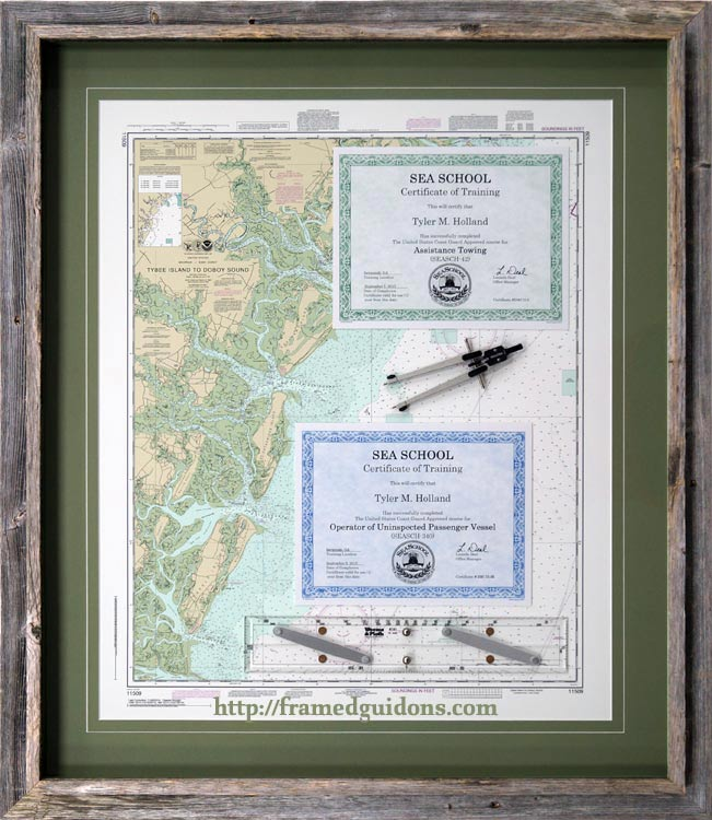 Gallery - Awards, Certificates, and Diploma Examples - Framed Guidons - example of award certificate