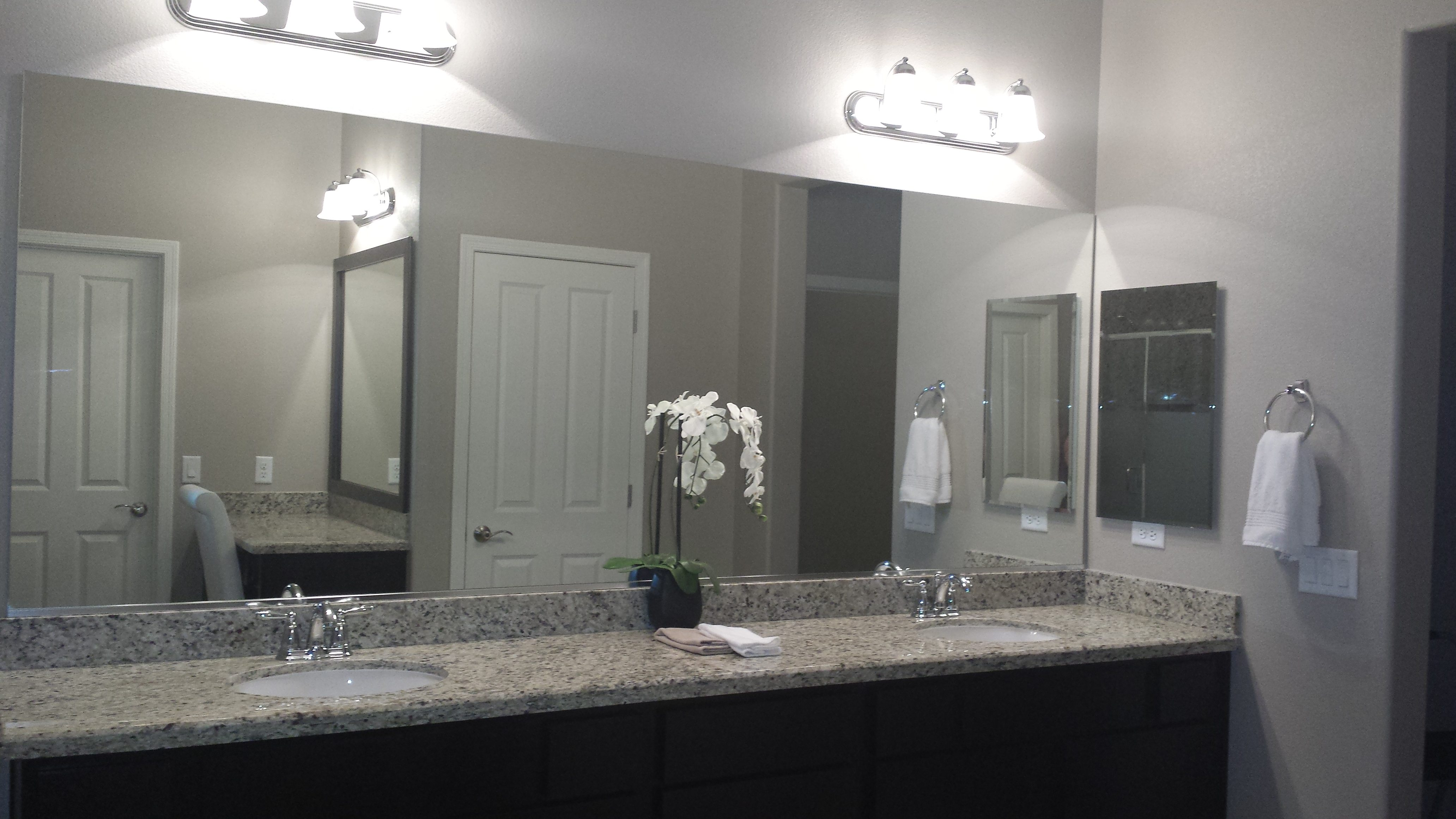 Broken Bathroom Mirror Before And After Customer Bathroom In Las Vegas Frame