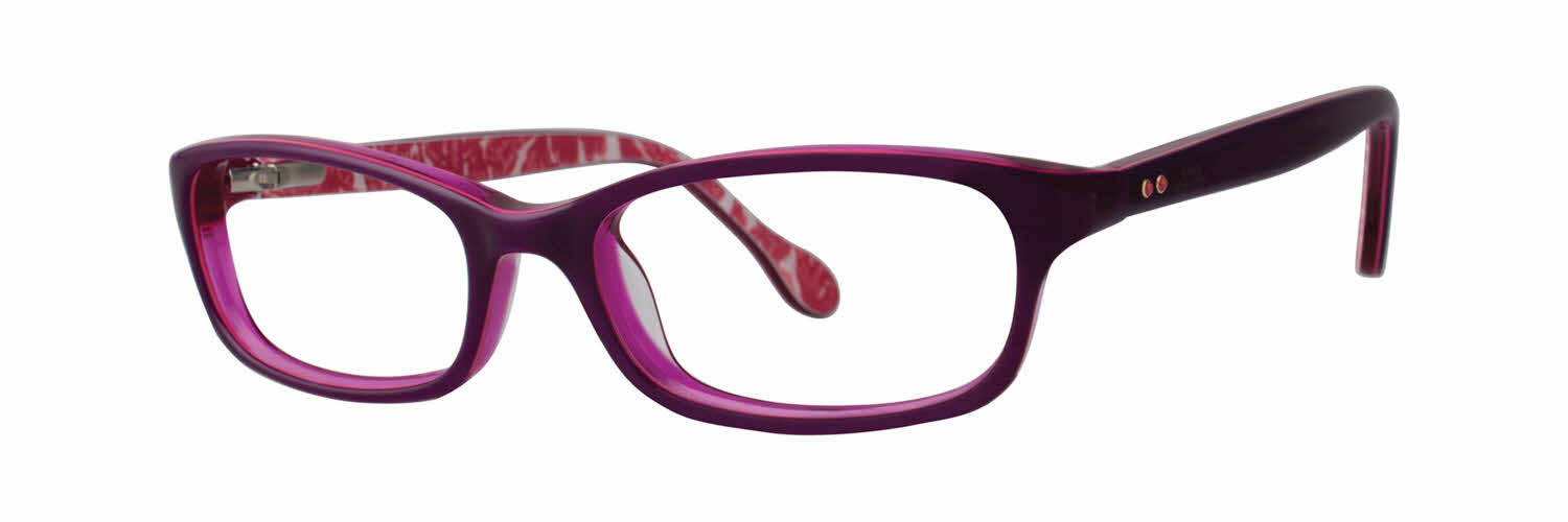 Large Frame Round Glasses Lilly Pulitzer Girls Chandie Eyeglasses Free Shipping