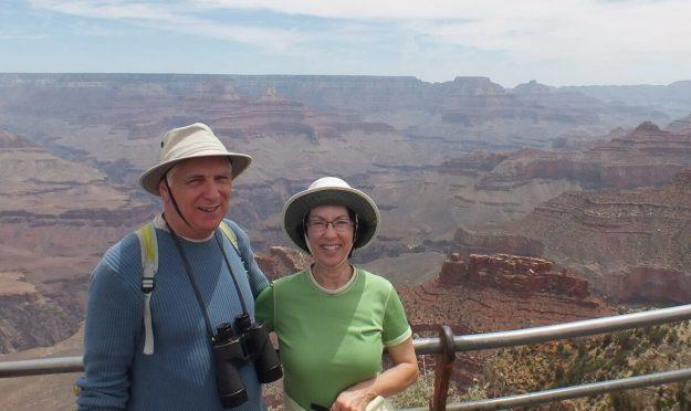Bob & Jean at south rim - Grand Canyon